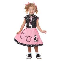 Disfraz Vestido Vaselina 50´s Niña T 4-6 Años