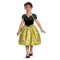 Disfraz Disney Congelado Anna Coronación Vestido Clásico Niñ