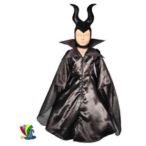 Disfraz Malefica Niña Halloween Tallas 4,6,8