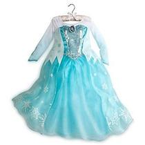 Disney Store Frozen Princesa Elsa Dress Costume 2014