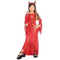 Disfraz De Diablo, Diablita Para Niñas, Envio Gratis