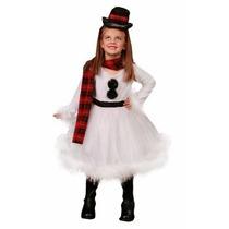 Disfraz De Mono De Nieve De Navidad, Para Niñas Envio Gratis