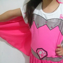 Hermoso Vestido Disfraz De Barbie Super Princesa Original