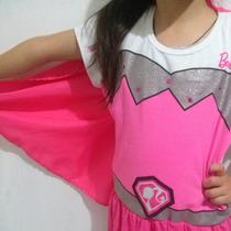 Hermoso Vestido Disfraz De Barbie Super Princesa Original