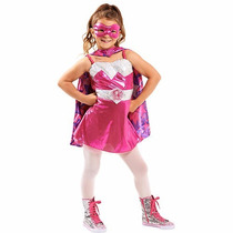 Disfraz Barbie Princess Power Super Princesa 4/6 Años Entreg