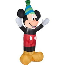 Disney Mickey Mouse 4 Pies. Tall Led Airblown Inflable