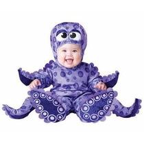 Traje Disfraz Bebe Pequeña Pulpo Halloween Niño Niña