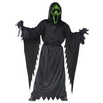 Disfraz Scream Mascara Con Luz Niño Halloween Fantasma