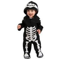 Traje De Bebé Esqueleto Romper Costume Rubie