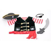 Disfraz De Pirata Para Niño O Niña Viene Con Accesorios