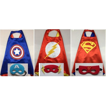 Disfraz Para Niño Superheroe Antifaz Y Capa Superman Batman