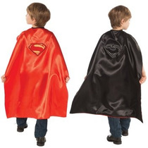 Disfraz / Capa De Superman General Zod Reversible Para Niños