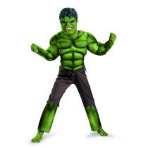 Disfraz Hulk The Avengers 100% Original Niño Talla Chica