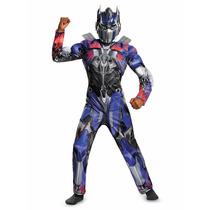 Disfraz De Transformers Optimus Niños Fiesta