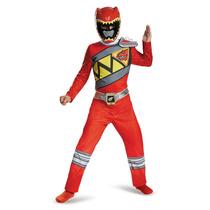 Disfraz Power Ranger Dino Charge Clasico Rojo Ninos Importa