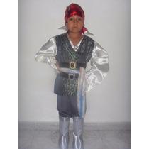 Disfraz Pirata Niño Capitan Jack Sparrow Talla 6 Años Pirata