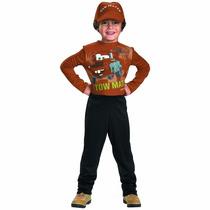 Disfraz Disney Tow Mater Cars Niño Piloto Mcqueen 7 A 8 Años