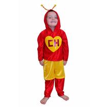 Disfraz Chapulin Colorado Para Niño