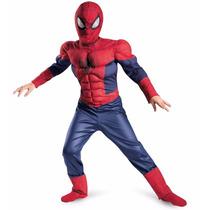 Disfraz Tipo Spiderman Niño Super Heroe Hombre Araña