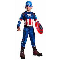 Disfraz De Capitan America, T 5 A 7 Años. Envio Gratis