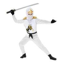 Disfraz De Ninja Blanco Para Niños Adolescentes Envio Gratis