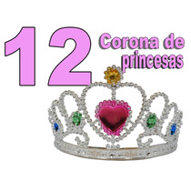 12 Tiara Corona De Princesas Mayoreo