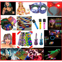 Lote De Productos Fiesta,peluca,sombrero,antifaz,globo,led.
