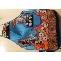 1 Mandil Esqueletos Dia De Muertos Ofrendas 2 De Noviembre