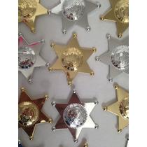 10 Estrellas Sheriff Plastico Distintivo Policia Seguridad