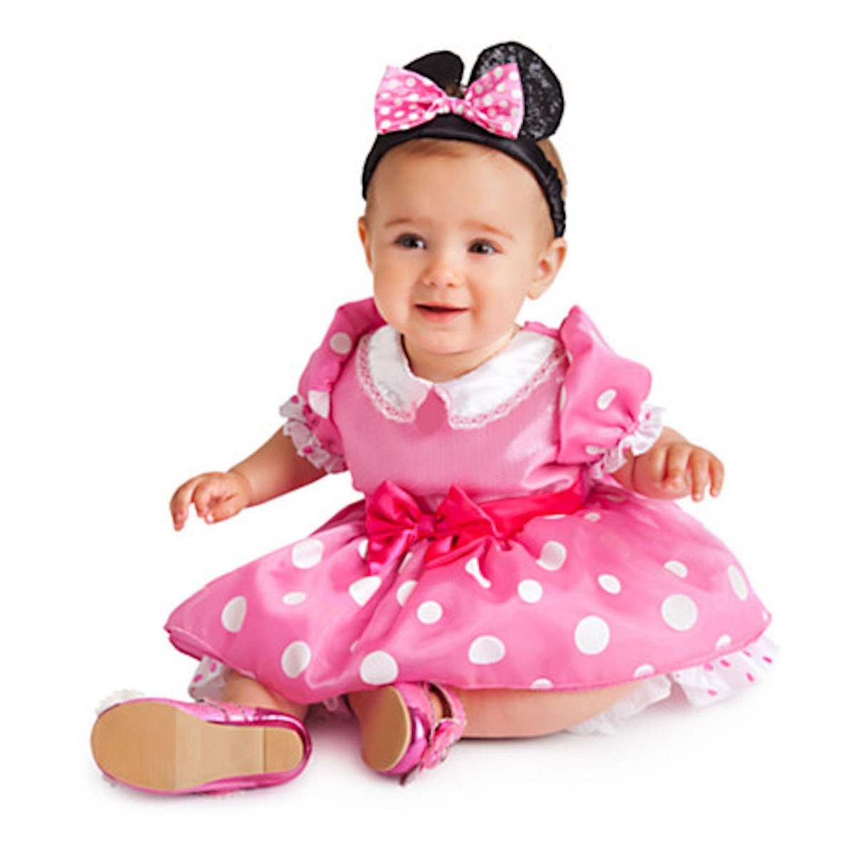 Disfraz para nia minnie mouse mimi rosa disney store nuev - Disfraz para bebes ...