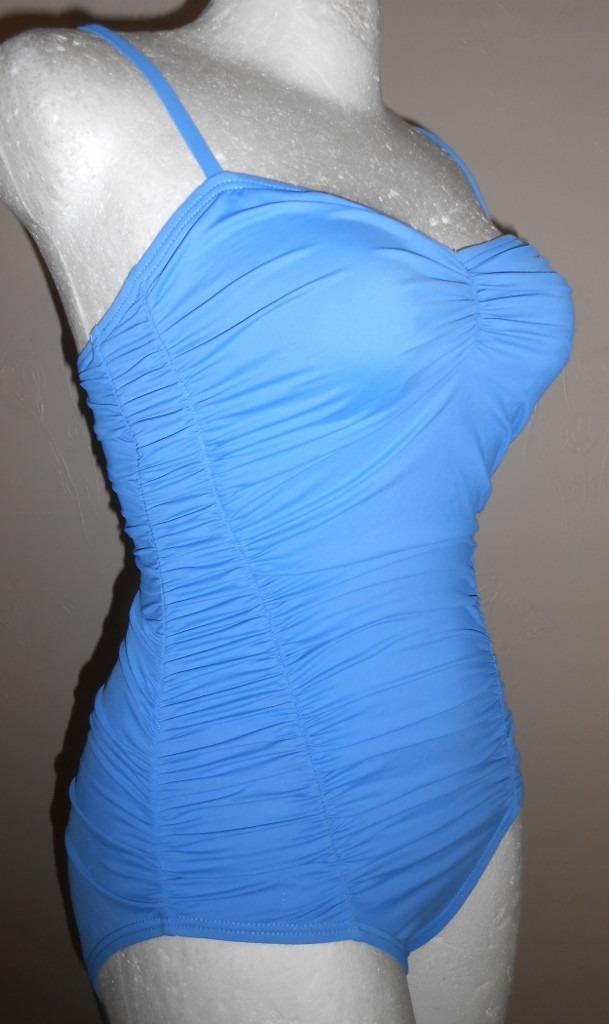 Trajes De Baño Azul Rey:Dkny! Traje De Baño Completo Azul Drappeado, Talla 6 – $ 50000 en