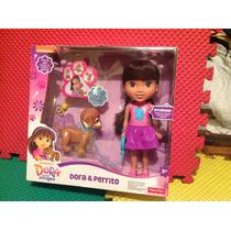 Muñeca Dora Y Su Perrito De La Serie Dora Y Sus Amigos.