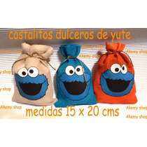 Come Galletas Plaza Sesamo Costalitos Yute Personalizados
