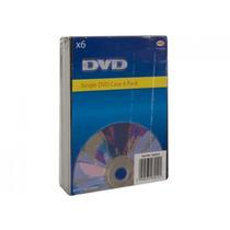 Caso Dvd - Paquete De 6 Negro Cd Almacenamiento Organizador