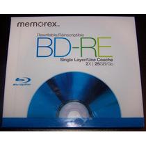 2 Bd-re Blu-ray Regrabables Memorex 25 Gb C/u