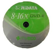 Dvd R Vrirgen 8x A 16x Pack 100 Pcs 4.7gb Ridata