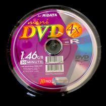 10 Mini Dvd-r Ridata Virgen Mini Torre 30 Minutos 1.46 Gb