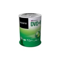 Dvd +r 4.7gb Sony 100dpr47sp/tww Campana C/100 Piezas +c+