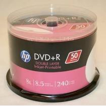 Hp Dvd + R Dl De Doble Capa 8x 8.5gb De Inyección De Tinta B