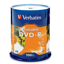 Dvd-r 4.7gb 16x Verbatim 95153 Blanco Ink Imprimible +c+