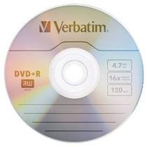 Verbatim 4,7 Gb Hasta 16x Branded Recodale Disco Dvd + R 10-
