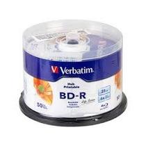 50 Bd-r Disco Blu Ray Verbatim 25 Gb, Imprimible Full Face