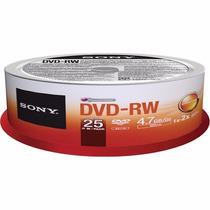 Dvd-rw Dorado Sony Dvd Regrabable Virgen Con 25 Piezas
