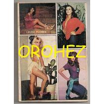 Minicromos Lucía Méndez Laura Flores Libro Rojo 1985