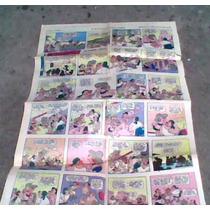 Tira Comica Fam.burron De Periodico Año 1975