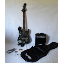 Kit Guitarra Eléctrica Jack Skellington Con Amplificador