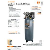 Compresor De Aire Lubricado 3hp De 240l Vertical