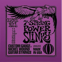 Ernie Ball Power Guitarra Electrica 7 Cuerdas 11-58 Vbf