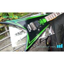 (*) Set Franjas Alexi Laiho Skull Cobhc Esp Guitarra Sticker
