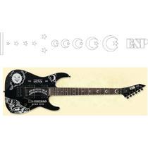 Viniles Stickers Guitarra Electrica Ouija Kirk Hammett Esp